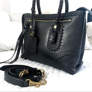 Alexander McQueen Black Leather Tote Bag Purse